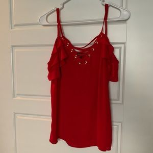 Lace up off the shoulder Express top size small